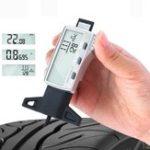 Оригинал Цифровой измеритель глубины протектора 0-25,4 мм / 0,01 мм Метрическая / дюймов / Фракция большая LCD Дисплей Измеритель глубины протектора колес