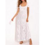 Оригинал Lace Crochet Strapless Beach Holiday Maxi Dress