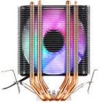Оригинал 3Pin Four Heat Pipes Colorful Радиатор охлаждения радиатора с подсветкой и радиатором охлаждения для Intel драм