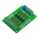 Оригинал 5 шт. 24 В до 12 В 4-канальный Оптрон Изолирующая плата Изолированный Модуль ПЛК Сигнал Уровня Преобразователя Напряжения Доска 4Bit