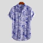 Оригинал Мужские Летние Цветочные Печатные Rayon Гавайские Рубашки