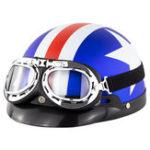 Оригинал Универсальный ABS мотоцикл открытый шлем Ретро Винтаж с защитными очками