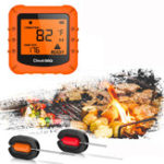 Оригинал Беспроводная связь Bluetooth LCD Мясо Термометр 2 зонда Приготовление барбекю Духовки Грили Вечеринка