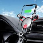 Оригинал BaseusGravityLinkageAutomaticЗамокAir Vent Авто Держатель для телефона с USB-кабелем для iPhone XS Макс iPhone 8 Plus