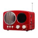 Оригинал M-163BT Портативный FM Радио TF карта USB Bluetooth-динамик MP3-плеер