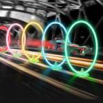 Оригинал Eachine LED Flash Гоночный круг, проходящий через дверную направляющую с таймером счетчика часов для E013 Plus FPV Racer Дрон