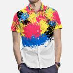Оригинал Мужская Colorful Splash Ink Painting Рубашки для уличной печати