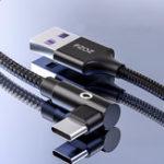 Оригинал PZOZ 5A Type C 90 градусов Elbow PD Быстрая зарядка кабель для передачи данных для Xiaomi MI8 MI9 HUAWEI P30 P30 Pro Mate 20 10 S9 S10 S10+