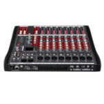 Оригинал 8-канальный bluetooth Mic Live Mixing Studio Аудио Передача Звук Микшер Консоль 48 В Phantom