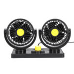 Оригинал 24 В 360 ° Всесторонний Мини-Авто Воздушное Охлаждение Двойной Авто Вентилятор Регулируемый Низкий Уровень Шума