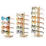 Оригинал Натуральное дерево Деревянные солнцезащитные очки Eyeglassэсэс Дисплей Стойка