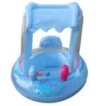 Оригинал Детскоенадувноедетскоесиденьесзонтиком от солнца Buggy Лодка Kid Child Float Бассейн Забавный плавательный надувной матрас + Насос