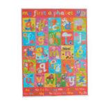Оригинал Азбука алфавит учиться детская образовательная шелковая ткань плаката настенная диаграмма декора