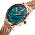 Оригинал SHENGKESKK0103АврораЗвездныйциферблат Женское кварцевые часы