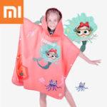 Оригинал XiaomiTOSWIMДетскаявпитывающаябаннаяполотенца UPF50 + Кемпинг Travel Пляжный Soft Плавательный плащ Мыс Дышащие впитывающие дети Дети с капюшоно