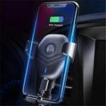 Оригинал БеспроводноезарядноеустройствоQiAirVent Gravity Linkage Авто Крепление Авто Держатель телефона для смартфона 4.7-6.3 дюймов