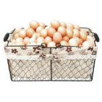 Оригинал Металл Провод Фрукты яйца Корзины Кухни Сад Свадебное Украшения для хранения Чехол