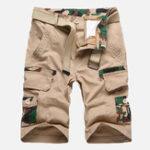 Оригинал Мужские камуфляжные мульти карманы Военный На открытом воздухе шорты Relaxed