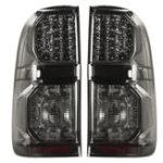Оригинал Для Toyota Hilux (Vigo) 2004-2015 пара Авто LED Задний фонарь задний стоп-сигнал Лампа дымчато-черный