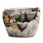 Оригинал 13 х 10 см суккулент Растение неглазурованный цемент цветочный горшок Sky Сад украшения дома