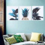 Оригинал Nordic Modern Print Растение Зеленый Лист Искусство Плакаты Настенные Холст Картины Без Рамы Украшения