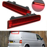 Оригинал Barn Door LED High Mount Stop Lamp 3rd Third Brake Light Red for VW T5 T6 2003-2016 7E0945097E 7E0945097H