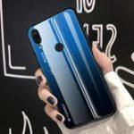Оригинал BakeeyGradientцветЗакаленноестекло+ Soft ТПУ Задняя крышка Защитная Чехол для Huawei Honor8X