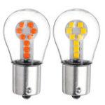 Оригинал 1156 BA15S Стеклянный корпус LED Фонарь указателя поворота заднего хода Лампа Запасная лампа 3,5 Вт 300LM Белый / Желтый