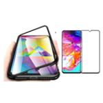 Оригинал BakeeyМагнитнаяАдсорбцияАлюминиевогоСплаваЗакаленное Стекло Защитное Чехол + Mofi 2.5D Закаленное Стекло-Экран Протектор Для Samsung GalaxyA702