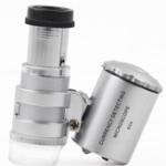 Оригинал Chuda MG9882 Офисная лупа 60-кратный микроскоп LED Фиолетовый свет Портативный микроскоп с лупой
