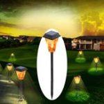 Оригинал 3W Солнечная Powered 12 LED Flame Lawn Light На открытом воздухе Водонепроницаемы IP65 Сад Факел для горения