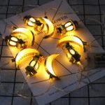 Оригинал 10 ШТ. Батарея Поставка Луна Палас Форма Ид Рамадан Исламская LED Строка Света Крытый Партия Декора