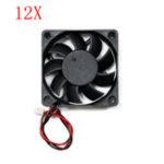 Оригинал 12шт 12v 6015 60 * 60 * 15 мм охлаждающий вентилятор с кабелем для части 3D-принтера