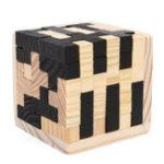 Оригинал 54Pcs Wood Волшебный Интеллектуальная игра 3D Wood Puzzle Головоломка Волшебный Тетрис Cube