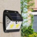 Оригинал Солнечные батареи COB LED Star Wall Лампа PIR Motion Датчик Light Водонепроницаемы На открытом воздухе Сад Двор ворот