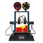 Оригинал TL-D3профессионал3D-принтерсдвумяэкструдерами Набор 300 * 300 * 350 мм Размер печати 4,3 дюйма Большой LCD Дисплей Поддержка Dual Nozzle / Печать SD-кар
