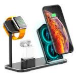 Оригинал 3 в 1 10 Вт Qi Беспроводное зарядное устройство для зарядки док-станции Stand Holder Держатель телефона Держатель часов для iPhone Samsung Apple Watch Серия Apple