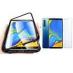 Оригинал BakeeyМагнитнаяАдсорбцияАлюминиевогоСплаваЗакаленное Стекло Защитное Чехол + 2.5D Закаленное Стекло-Экран Протектор Для Samsung GalaxyA92018