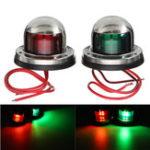 Оригинал 12V Yacht LED Навигационные огни из нержавеющей стали Bow Bow Лодка Красный Зеленый Лампа