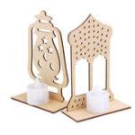 Оригинал Деревянная Лампа DIY Islamic Palace LED Украшения для рабочего стола Подарки для Ид Мубарак