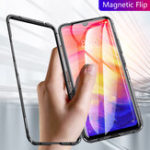 Оригинал Bakeey Magnetic Flip Metal Frame Tempered Glass Full Cover Protective Case for Xiaomi Redmi 7