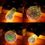 Оригинал E276WColorful3DПраздникРождества LED Фейерверк Свет Домашний Декоративный Лампа Лампа LED