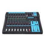 Оригинал 8-канальный Bluetooth Live Studio Аудио Микшер, Микшерный пульт USB + 48V Phantom