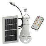 Оригинал 20 Вт Солнечная Питание USB Аккумуляторная Кемпинг Лампа 5-режимная с Солнечная Панель 3 м Кабель и Дистанционный