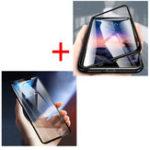 Оригинал BakeeyМагнитнаяАдсорбцияМеталлЗакаленноестекло Флип Защитный чехол + 5D Закаленное стекло Защитная пленка для Xiaomi RedmiПримечание6Pro