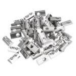 Оригинал Drillpro 50шт 40 Series T Слот Гайка Эластичная Круглая Рулонная Гайка для 40 Серии Алюминиевый Профиль