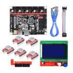 Оригинал 32-разрядная материнская плата SKR V1.3 Smoothieboard + дисплей 12864 LCD + 5xA4988 Набор для 3D-принтера