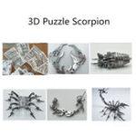 Оригинал Steel Warcraft 3D Puzzle DIY Сборка Скорпион Игрушки DIY Модель из нержавеющей стали Строительный декор 16 * 14 * 14 см