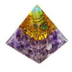 Оригинал Гималаи Каменные украшения Оргона Пирамида Генератор энергии Башня Главная Рейки Исцеление Кристалл