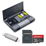 Оригинал КартабольшойемкостиКавауКоробка+ Тип-USB USB 3.0 Устройство чтения карт Micro USB + Ключ для извлечения штырька + StickDrive 64GB Карта памяти с адапт
